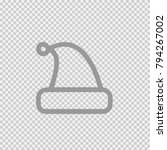 santa hat vector icon eps 10.... | Shutterstock .eps vector #794267002