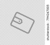 wallet vector icon eps 10.... | Shutterstock .eps vector #794267005