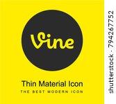 vine logo bright yellow...
