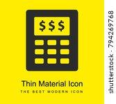 budget calculator bright yellow ...