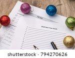 2018 new year goals  to do list ...   Shutterstock . vector #794270626