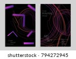 abstract banner template with... | Shutterstock .eps vector #794272945