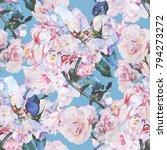 flowers blossom illustration... | Shutterstock . vector #794273272