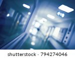 blurred view of a hospital... | Shutterstock . vector #794274046