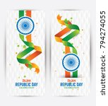 republic day banner background... | Shutterstock .eps vector #794274055