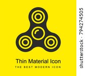 spinner bright yellow material...