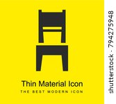 dining room chair bright yellow ...