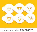smile stencil card | Shutterstock .eps vector #794278525