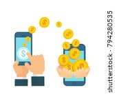 money transfer using mobile... | Shutterstock .eps vector #794280535