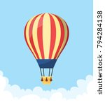 flat hot air balloon | Shutterstock .eps vector #794284138