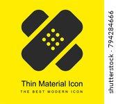 bandage cross bright yellow... | Shutterstock .eps vector #794284666