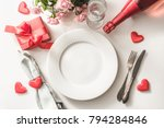 valentines day dinner with... | Shutterstock . vector #794284846