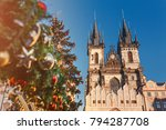 Christmas Tree And Church Of...