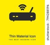 modem bright yellow material...