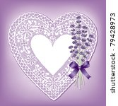 Lace Heart  Sweet Lavender ...