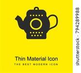 tea pot bright yellow material...