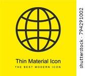 earth grid symbol bright yellow ...