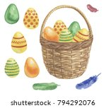 Easter Eggs And Bucket....