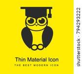 graduation owl bright yellow...
