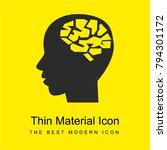 male brain bright yellow... | Shutterstock .eps vector #794301172