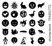 Cute Icons. Set Of 25 Editable...