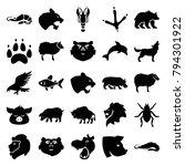 wildlife icons. set of 25... | Shutterstock .eps vector #794301922