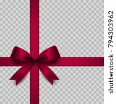gift bow isolated. vector... | Shutterstock .eps vector #794303962