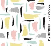 seamless pattern with brush... | Shutterstock .eps vector #794307922
