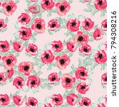 seamless pattern in small cute... | Shutterstock . vector #794308216
