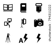 photograph icons. set of 9...   Shutterstock .eps vector #794311222