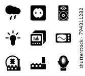 electrical icons. set of 9... | Shutterstock .eps vector #794311282