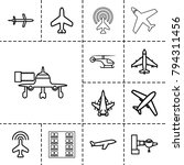 airline icons. set of 13... | Shutterstock .eps vector #794311456
