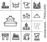 history icons. set of 13...   Shutterstock .eps vector #794311492
