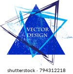 triangle retro shape. banners ... | Shutterstock .eps vector #794312218