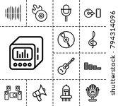 audio icons. set of 13 editable ... | Shutterstock .eps vector #794314096