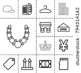 Store Icons. Set Of 13 Editabl...