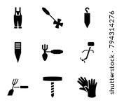 gardener icons. set of 9... | Shutterstock .eps vector #794314276