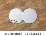 two round white coasters and... | Shutterstock . vector #794316856