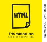 html file hand drawn symbol... | Shutterstock .eps vector #794318008