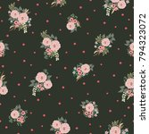 fashion seamless pattern with... | Shutterstock . vector #794323072