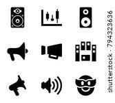 loud icons. set of 9 editable... | Shutterstock .eps vector #794323636