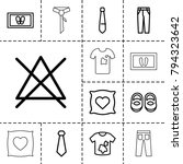 fabric icons. set of 13... | Shutterstock .eps vector #794323642
