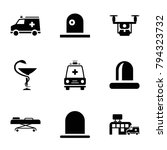 ambulance icons. set of 9... | Shutterstock .eps vector #794323732