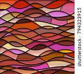 abstract vector stained glass... | Shutterstock .eps vector #794323915