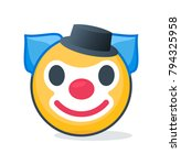 isolated clown emoticon  | Shutterstock .eps vector #794325958