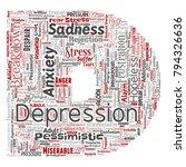 vector conceptual depression or ... | Shutterstock .eps vector #794326636