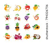 funny fruit   vector isolated... | Shutterstock .eps vector #794326756