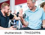 senior man training with...   Shutterstock . vector #794326996