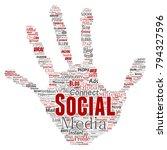 vector conceptual social media... | Shutterstock .eps vector #794327596