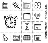 reminder icons. set of 13...   Shutterstock .eps vector #794328136